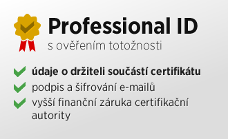 Email certifikát Professional ID