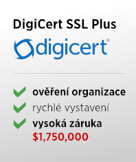 SSL certifikát DigiCert SSL Plus