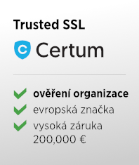 SSL certifikát Certum Trusted SSL