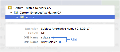 Multidoménový UCC SSL certifikát s podporou Subject Alternative Names (SAN), UC Exchange certifikát